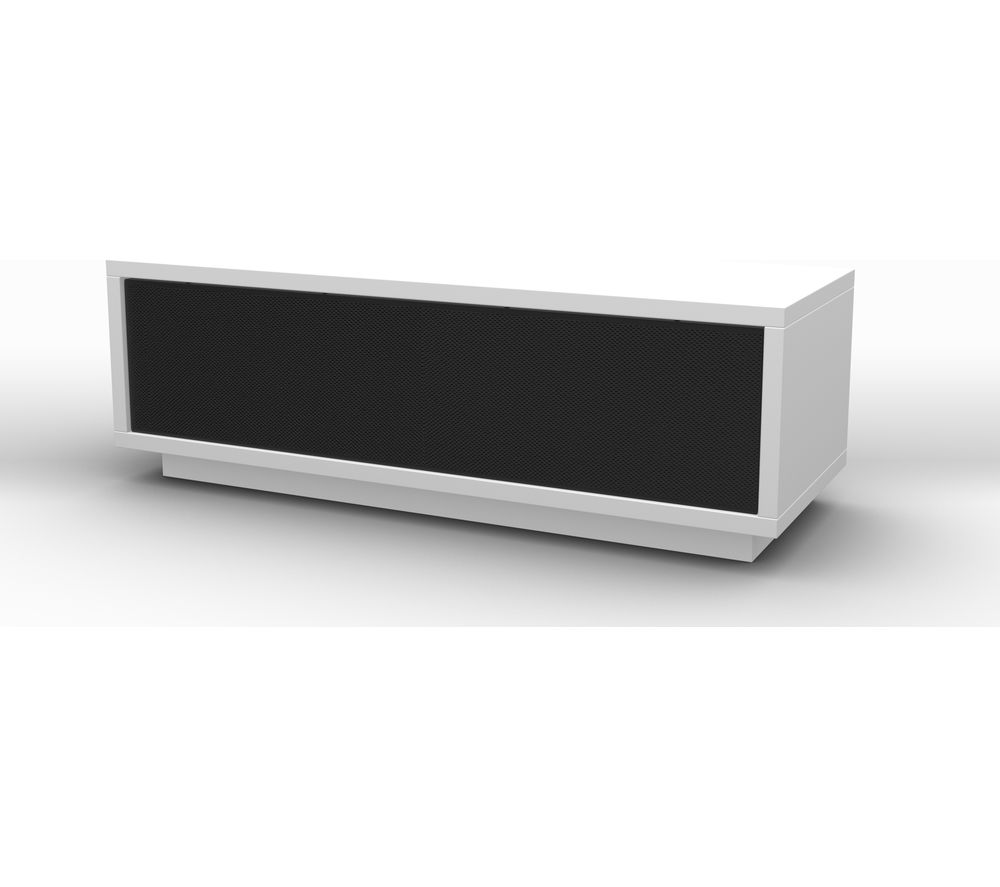 SCHNEPEL VariC 2.0 Sound TV Stand - Gloss White & Black