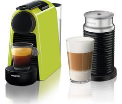 NESPRESSO by Magimix Essenza Mini Coffee Machine with Aeroccino - Lime Green