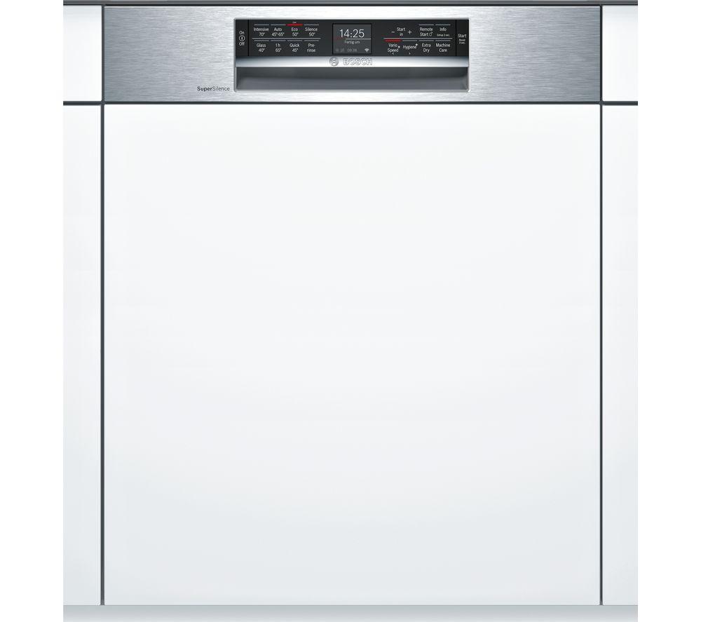 BOSCH Serie 6 SMI68MS06G Full-size Semi-Integrated Smart Dishwasher