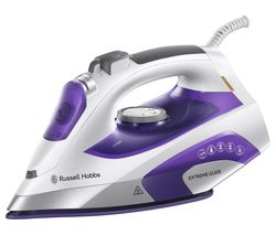 RUSSELL HOBBS Extreme Glide 21530 Steam Iron - Purple & White