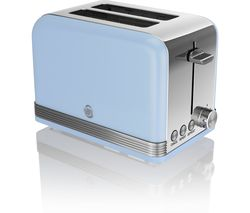 SWAN ST19010BLN2-Slice Toaster - Blue