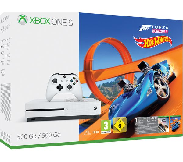 Image of MICROSOFT Xbox One S with Forza Horizon 3 & Hot Wheels Expansion Pack