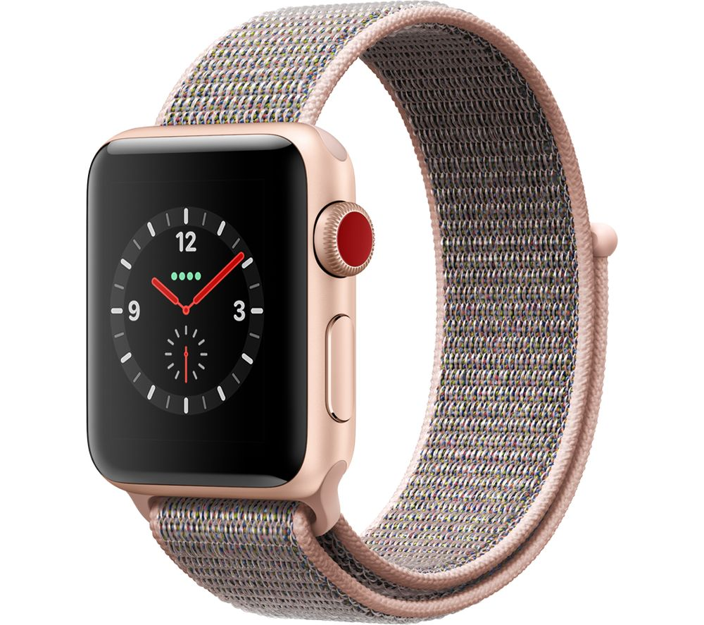 APPLE Watch Series 3 Cellular - Pink Sport, 38 mm, Pink cheapest retail price