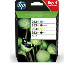 HP 953XL Cyan, Magenta, Yellow & Black Ink Cartridges