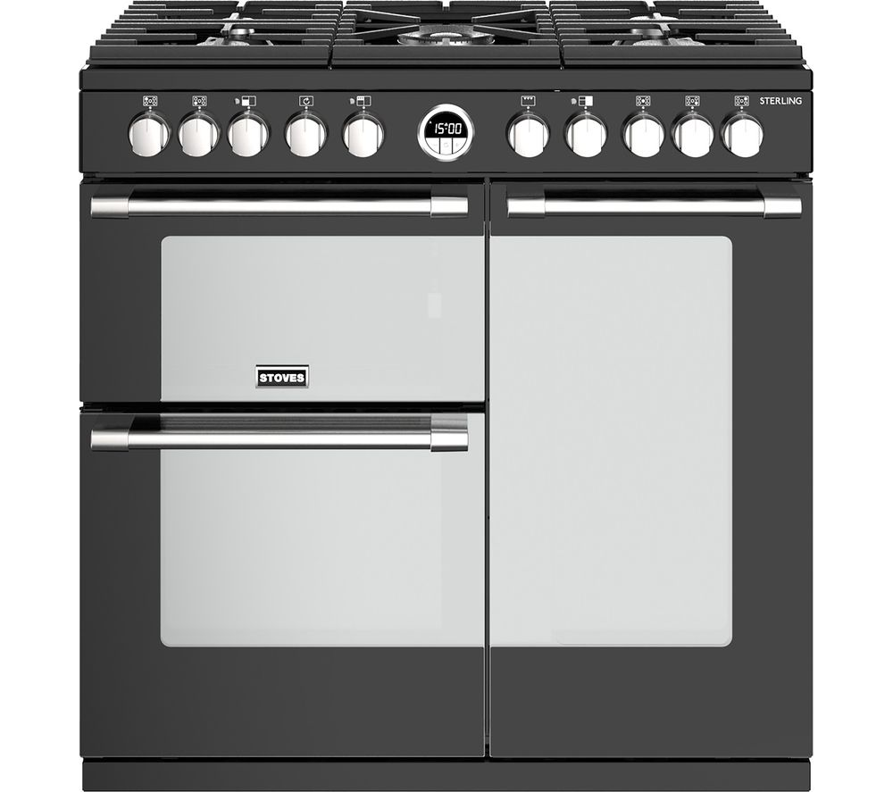 STOVES Sterling S900DF BK 90 cm Dual Fuel Range Cooker - Black