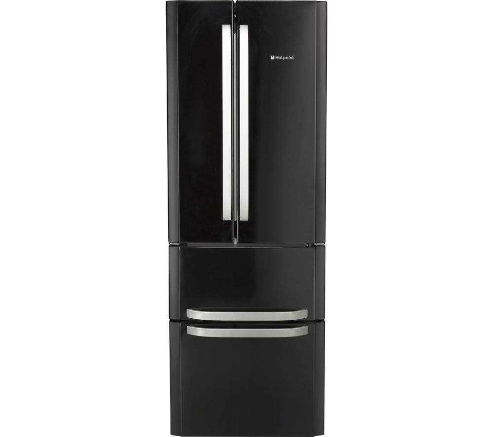 buy hotpoint ffu4d 1 k fridge freezer black free. Black Bedroom Furniture Sets. Home Design Ideas