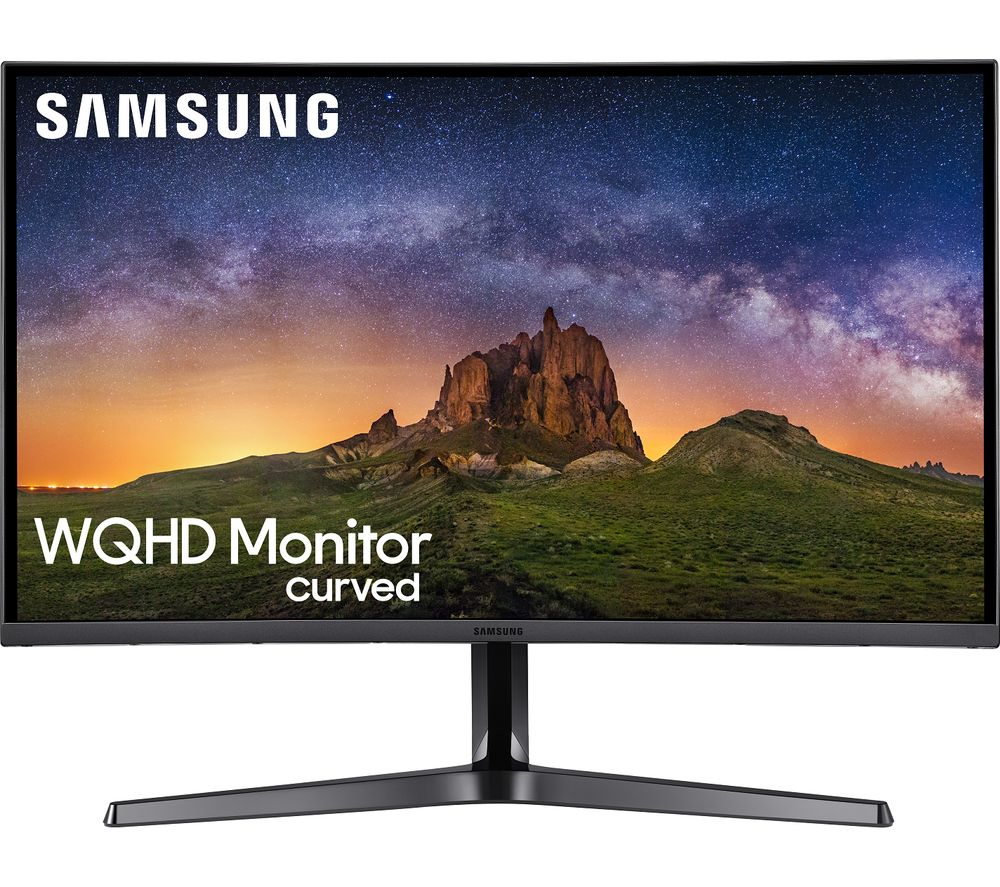 "SAMSUNG LC32JG50QQUXEN Quad HD 32"" Curved LED Monitor - Dark Silver"