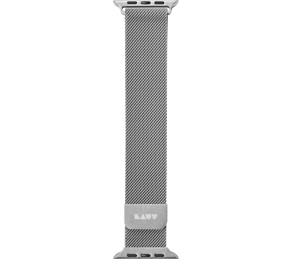 Image of LAUT Apple Watch 38 / 40 mm Steel Loop Strap - Silver, Small, Silver