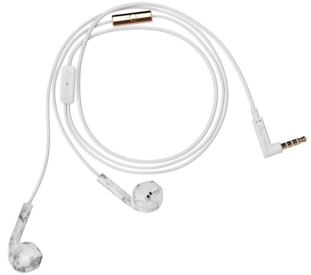 Image of HAPPY PLUGS Earbud Plus Earphones - White & Grey, White