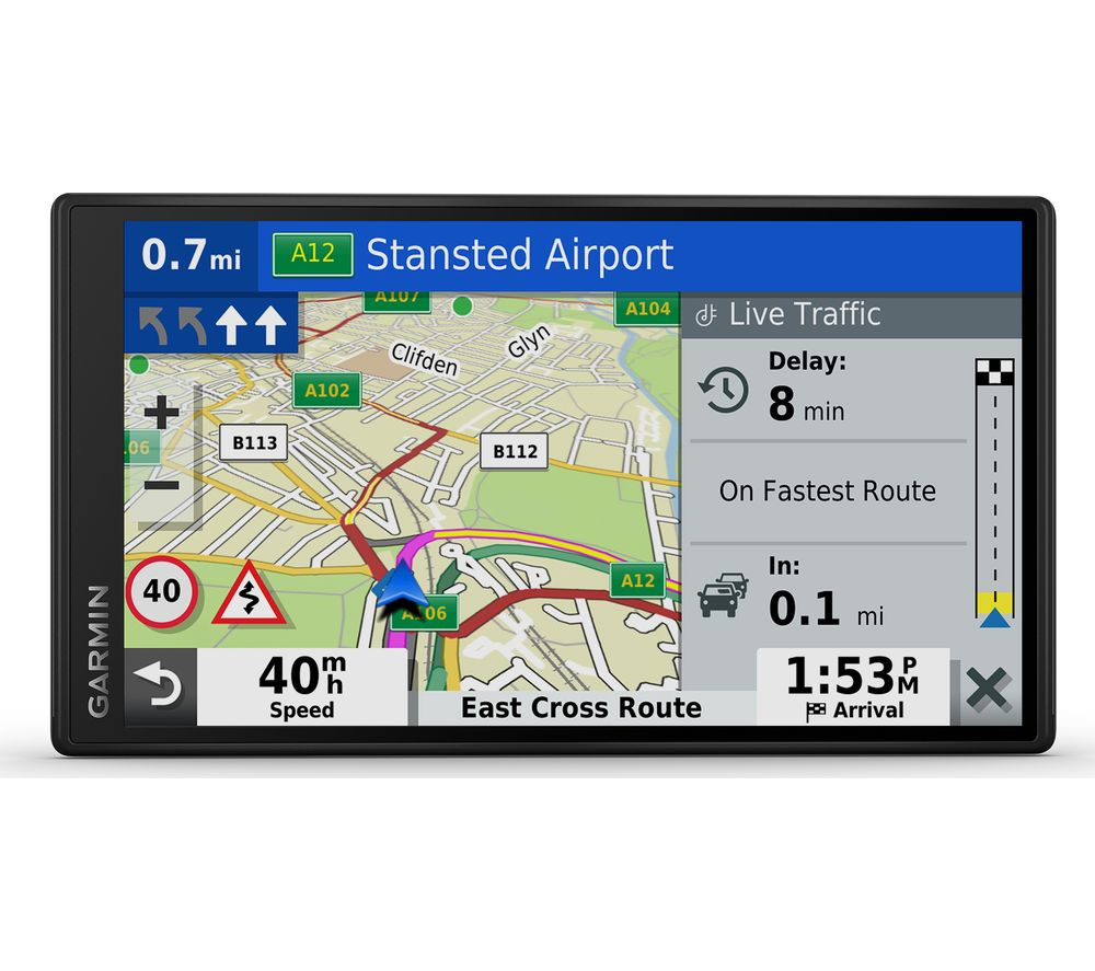 "Buy GARMIN DriveSmart 65 MT-D 6.95"" Sat Nav - Full Europe ... on garmin express software, maps europe maps, magellan gps europe maps, garmin nuvi europe maps,"