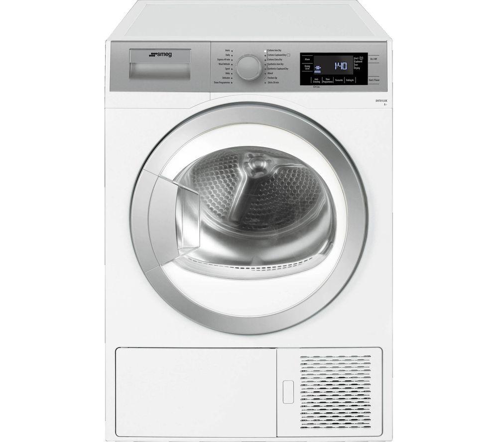 SMEG DHT81LUK 8 kg Heat Pump Tumble Dryer - White