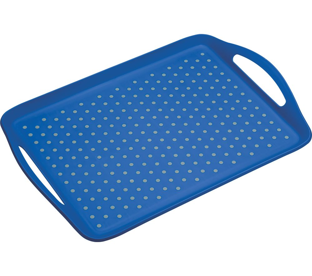 Anti-Slip Serving Tray - Grey & Blue