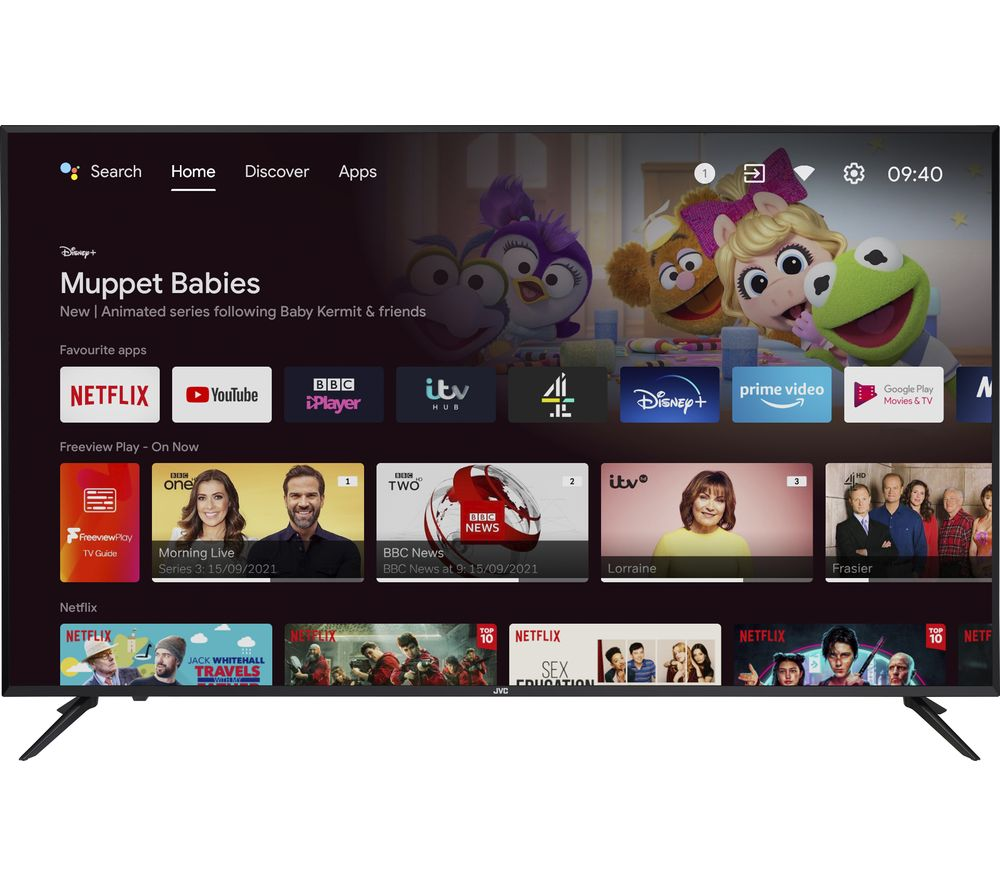 "JVC LT-65CA890 Android TV 65"" Smart 4K Ultra HD HDR LED TV with Google Assistant"
