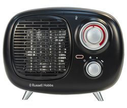 RUSSELL HOBBS RHRETPTC2001 Retro Fan Heater - Black
