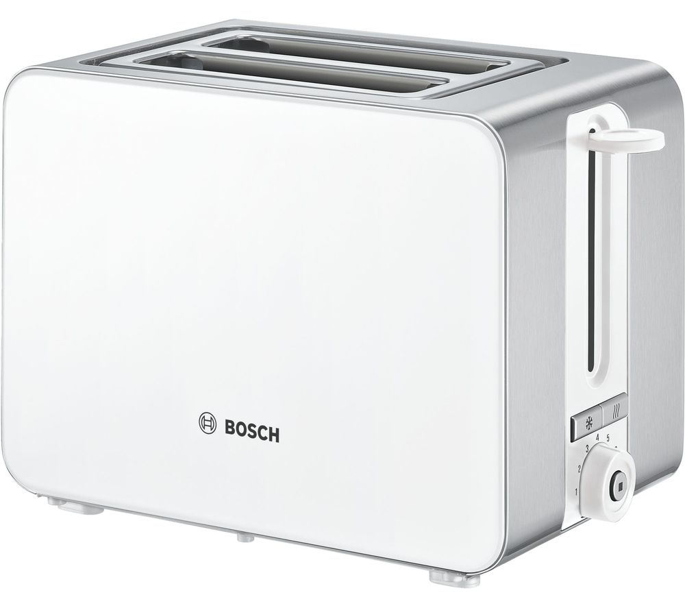 BOSCH Sky TAT7201GB 2-Slice Toaster - White, White