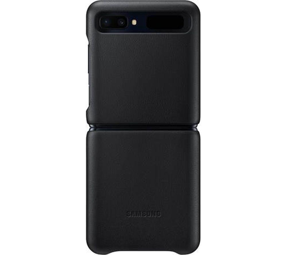 SAMSUNG Galaxy Z Flip Leather Case - Black