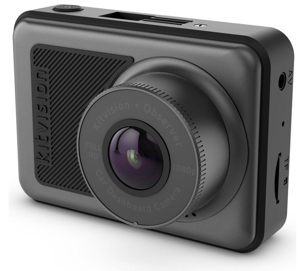 Image of KITVISION Observer Full HD Dash Cam - Black, Black