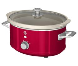 SWAN Retro SF17021 Slow Cooker - Red Best Price, Cheapest Prices