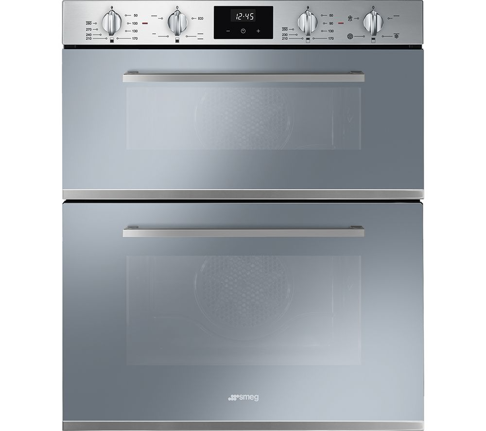 SMEG DUSF400S Electric Built-under Double Oven - Silver