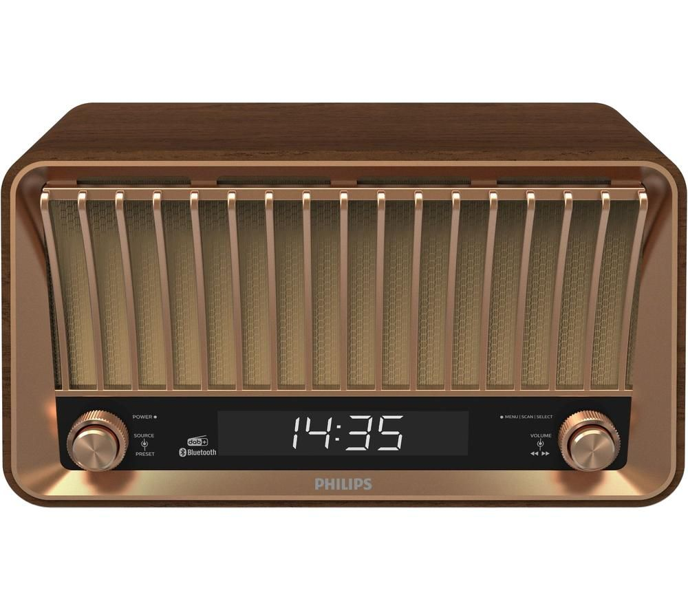 PHILIPS Original TAVS700 DAB+/FM Retro Bluetooth Radio - Brown