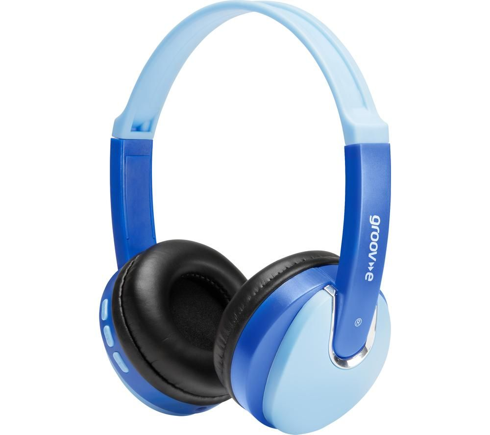 GROOV-E KIDZ Wireless Bluetooth Kids Headphones - Blue