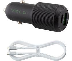 VC48DG-L Universal USB Car Charger - 1 m
