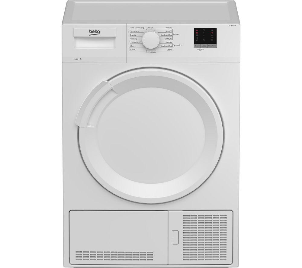 BEKO DTLCE70051W 7 kg Condenser Tumble Dryer - White, White