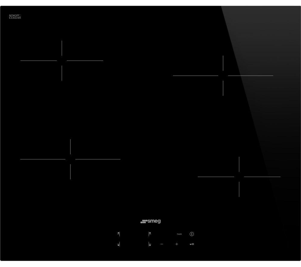 SMEG SE264TD Electric Ceramic Hob – Black, Black