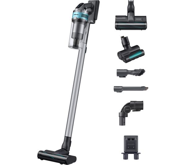 SAMSUNG Jet 75 Pet VS20T7532T1/EU Max 200 W Suction Power Cordless Vacuum Cleaner with Turbo Action Brush - ChroMetal & Teal Mint