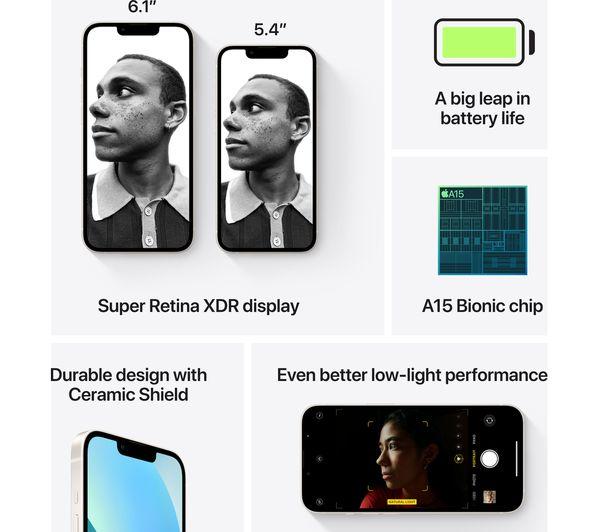 Apple iPhone 13 mini - 128 GB, Starlight 6