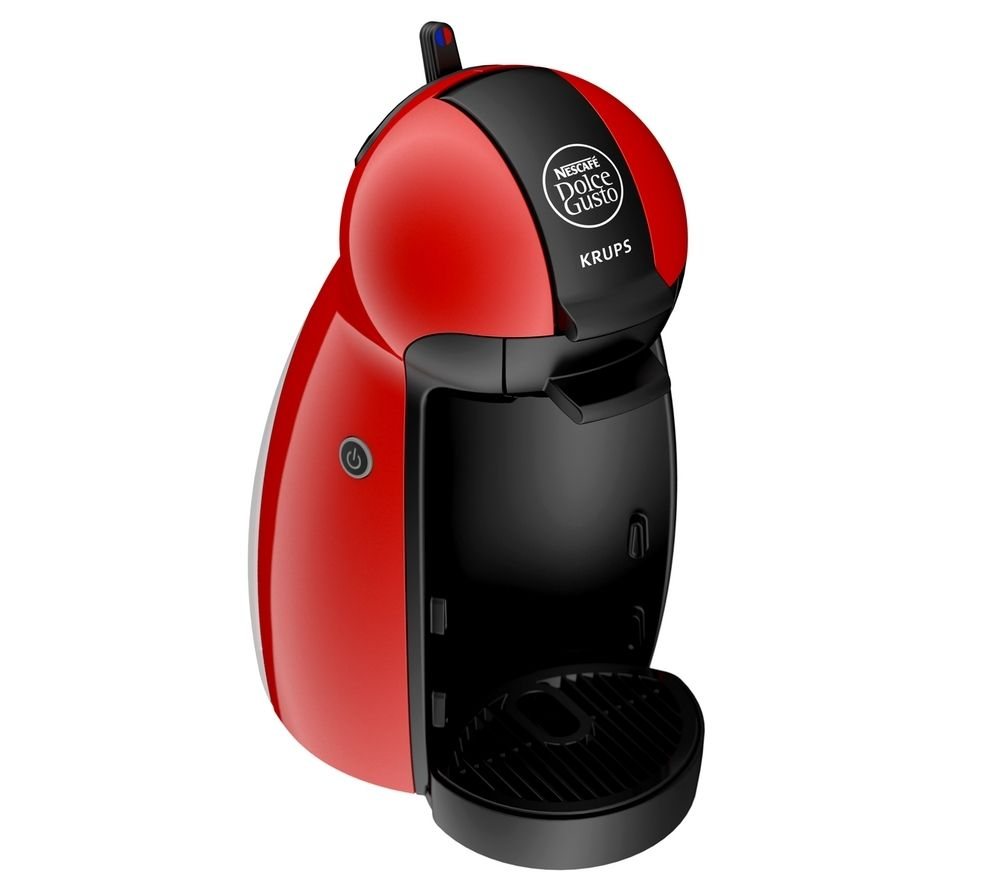 by Krups Piccolo KP100640 Hot Drinks Machine - Red + XB201000 Dolce Gusto Pod Holder - Chrome