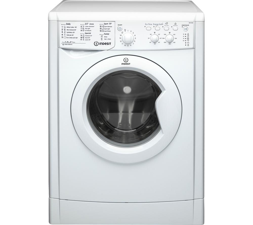 INDESIT IWC91482ECO Ecotime Washing Machine - White + Ecotime IDV75 Vented Tumble Dryer - White