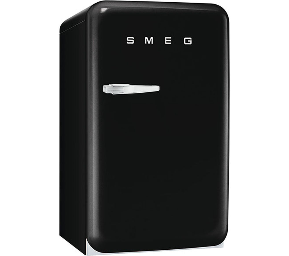 buy smeg fab10rne mini fridge black free delivery currys. Black Bedroom Furniture Sets. Home Design Ideas