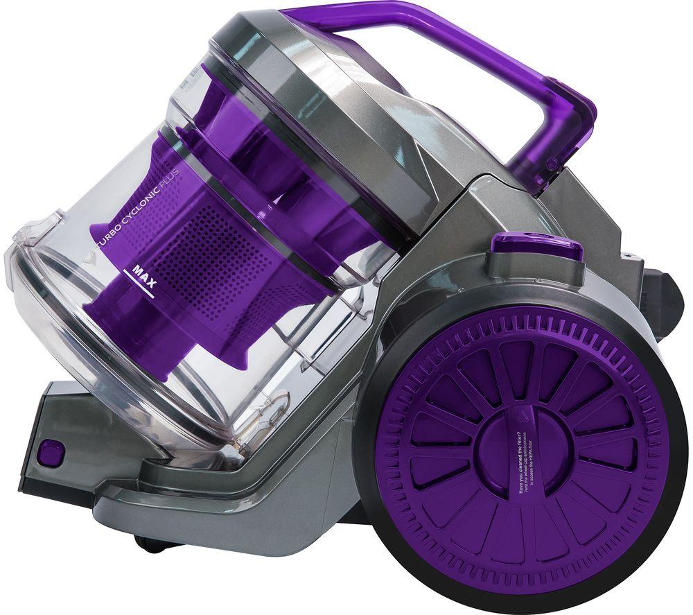 RUSSELL HOBBS RHCV2103 Cylinder Bagless Vacuum Cleaner - Gunmetal Grey & Purple