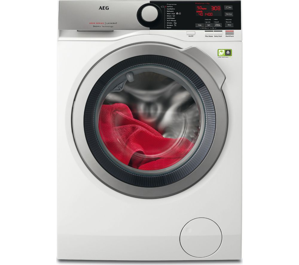 AEG OkoMix L8FEE965R 9 kg 1600 Spin Washing Machine - White
