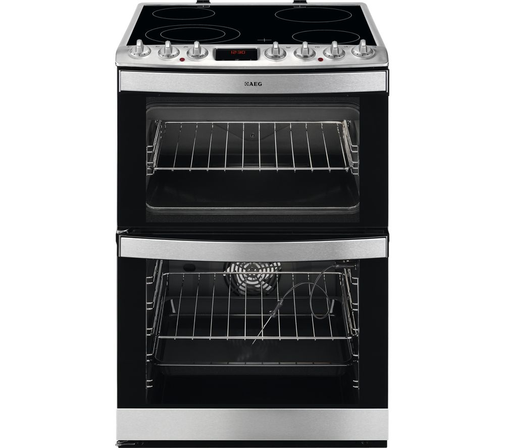 Image of AEG 43172V-MN 60 cm Electric Ceramic Cooker - Stainless Steel, Stainless Steel