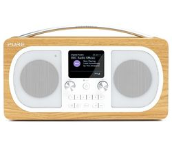 PURE Evoke H6 Portable DAB+/FM Bluetooth Clock Radio - Oak