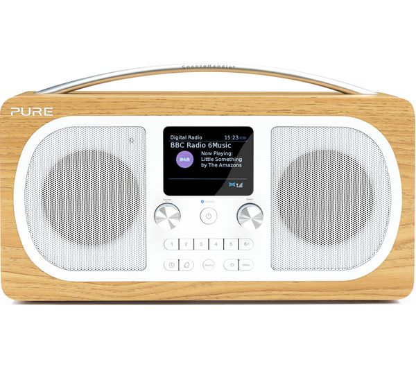Image of PURE Evoke H6 Portable DAB+/FM Bluetooth Clock Radio - Oak