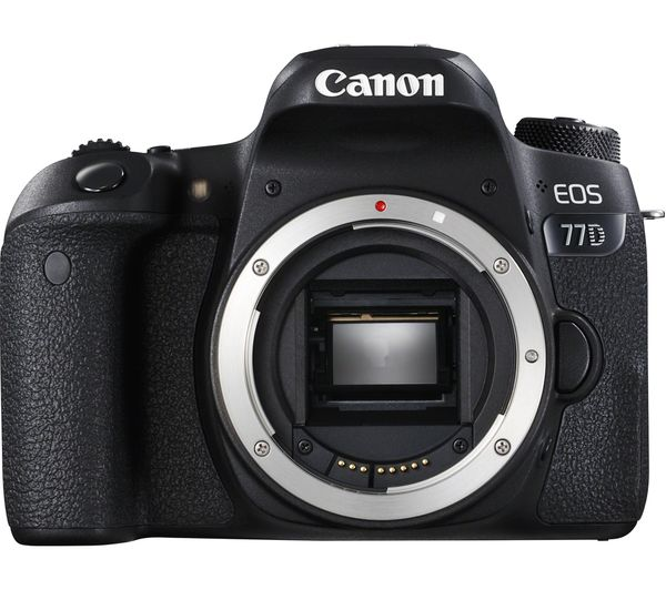 Image of CANON EOS 77D DSLR Camera - Black, Body Only