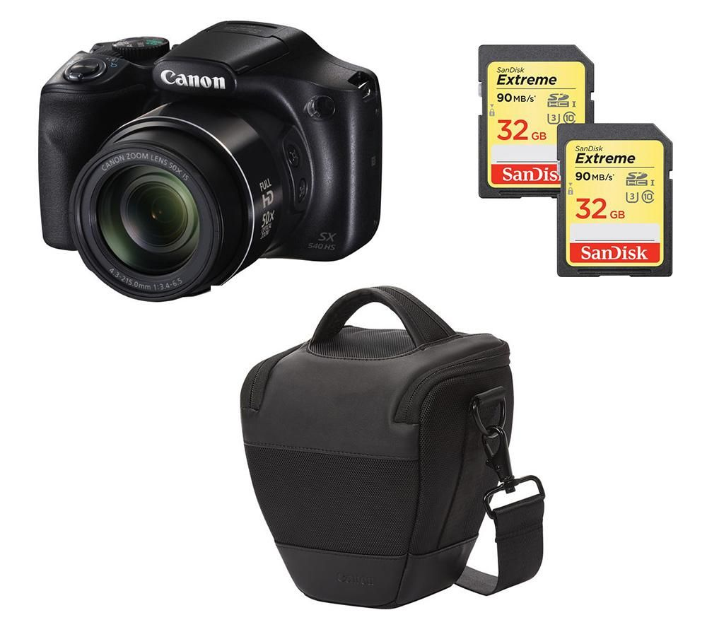 CANON PowerShot SX540 HS Bridge Camera & Accessories Bundle
