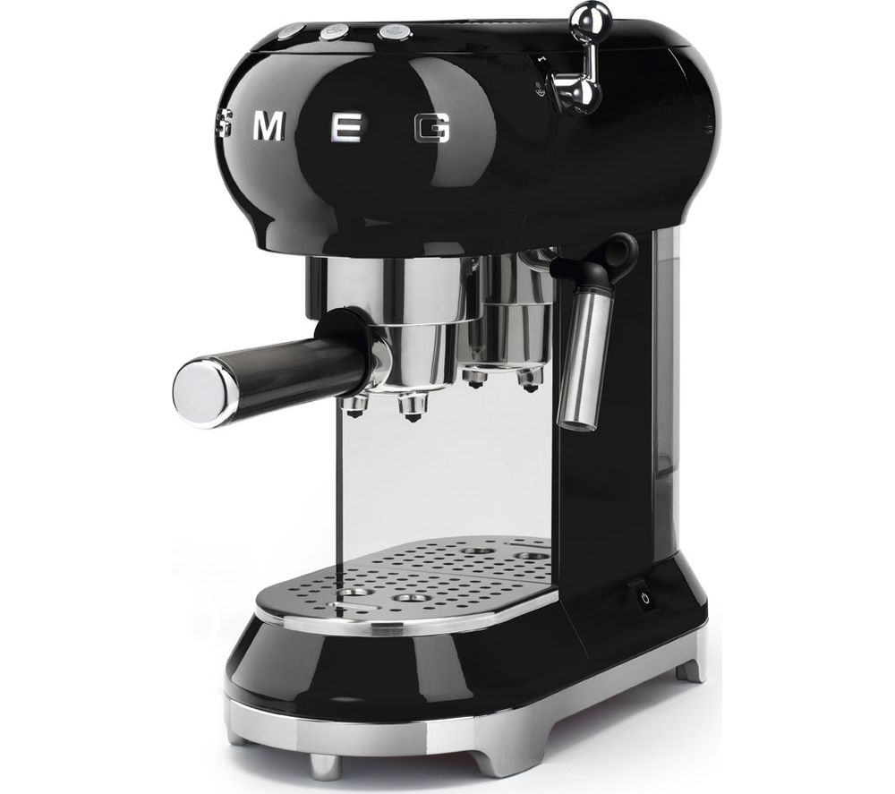 buy smeg ecf01bluk coffee machine black free delivery. Black Bedroom Furniture Sets. Home Design Ideas
