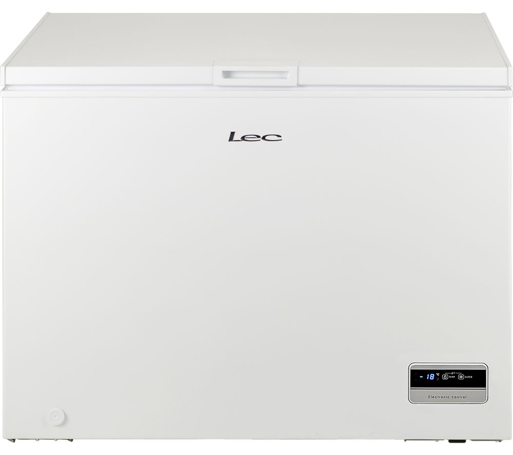 LEC CF300L Chest Freezer - White, White