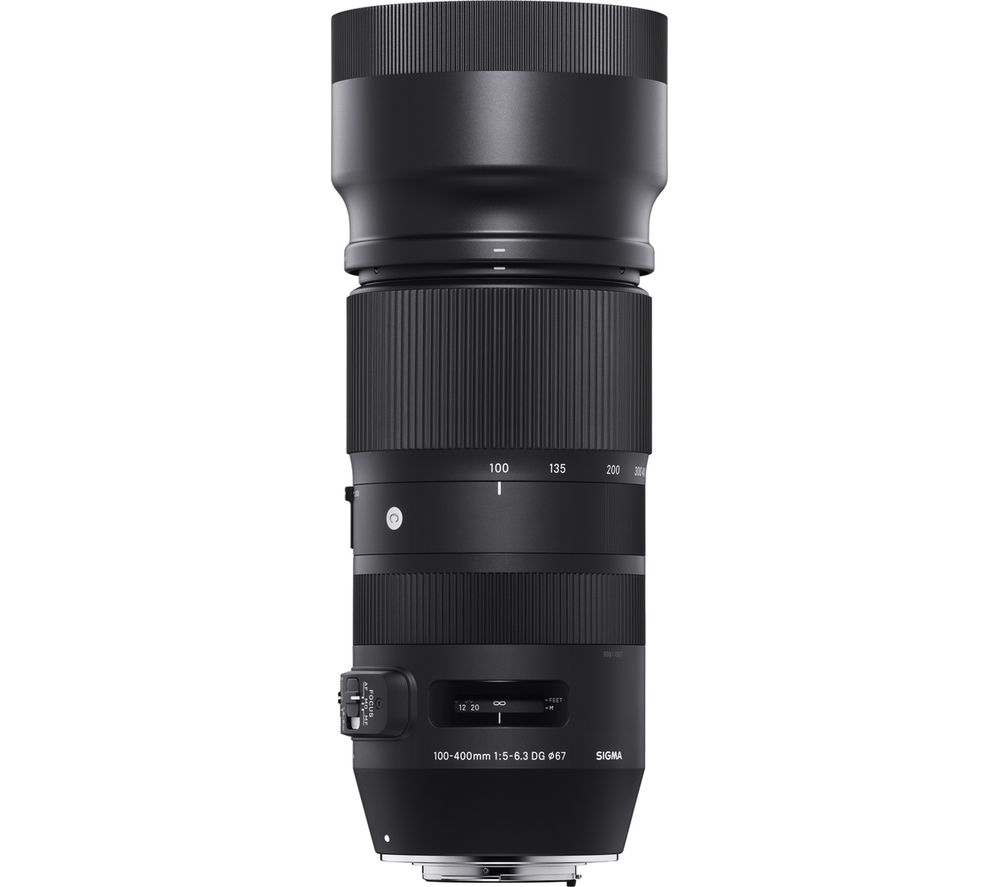 buy sigma 100 400 mm f 5 6 3 dg os hsm telephoto zoom lens for nikon free delivery currys. Black Bedroom Furniture Sets. Home Design Ideas
