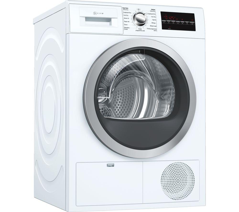 NEFF R8580X3GB 9 kg Condenser Tumble Dryer - White, White