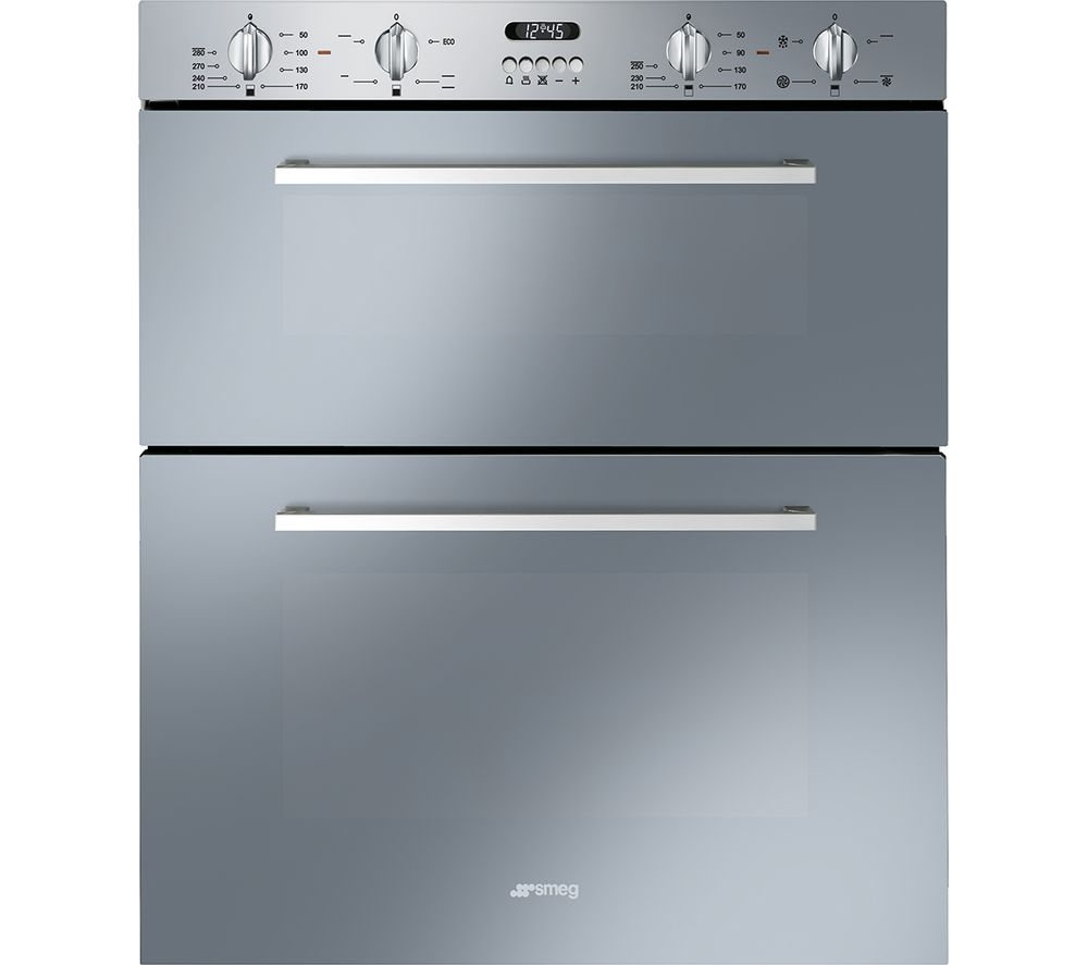 SMEG DUSF44X Electric Built-Under Double Oven - Stainless Steel