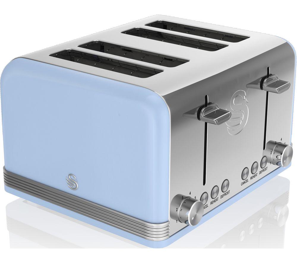 SWAN Retro ST19020BLN 4-Slice Toaster - Blue