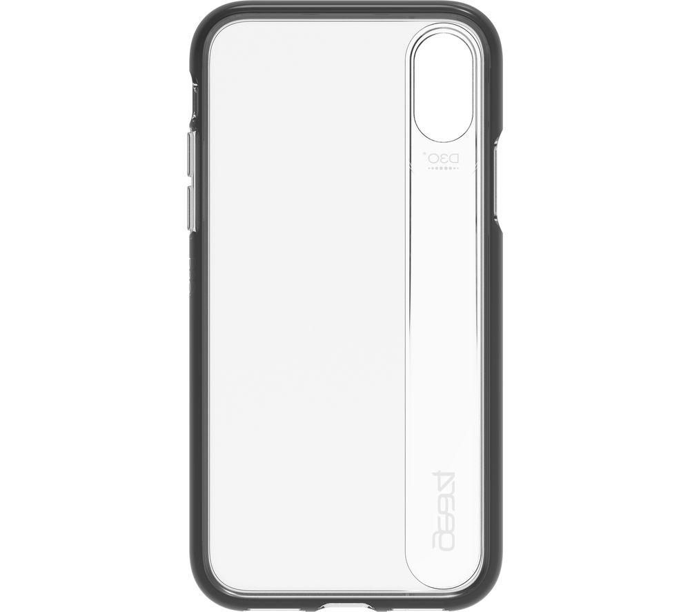 GEAR4 Windsor iPhone X/XS Case – Clear & Black, Black