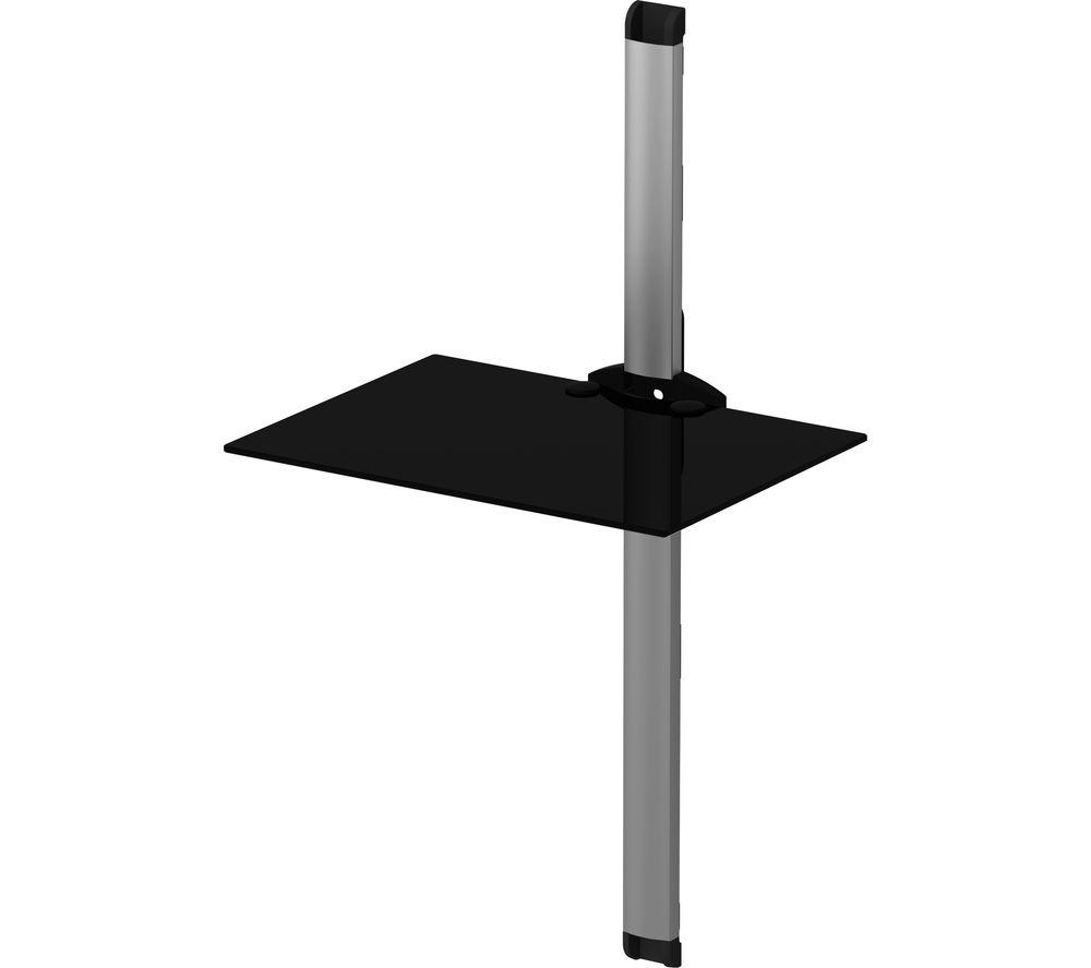 SONOROUS PL2610 Single Shelf Support System - Black & Silver, Black