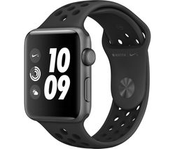 APPLE Watch Nike+ Series 3 - Black, 42 mm