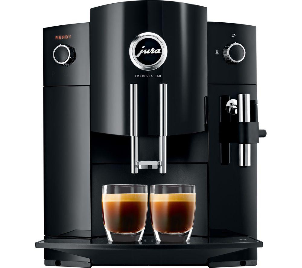 JURA C60 Bean to Cup Coffee Machine - Piano Black
